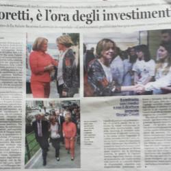 Lorenzin e Sovrani: Goretti, è l'ora degli investimenti, Latina Oggi, 8 Aprile 2016