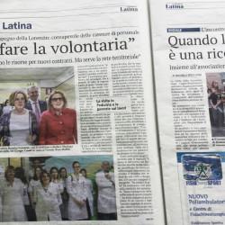 Lorenzin e Sovrani: Vincoleremo le risorse per nuovi contratti, Il Giornale di Latina, 8 Aprile 2016